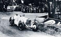 Rudolf Caracciola in the Mercedes-Benz SSK in 1930.