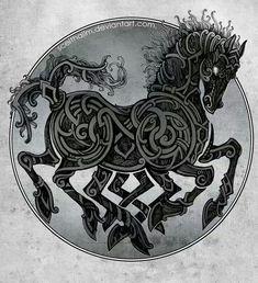 Sleipnir, Odins fabled eight legged steed. Fantastic