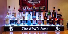 St. Louis Cardinals Lighted Home Bar Shelves