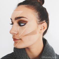 If you're still intimidated about contouring and highlighting, today's simplified tutorial is for you! See all 6 triangles (and final look) on thebeautydepartment.com (or click twice on this picture!).