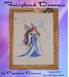 Fairyland Dreams Cross Stitch Pattern (13-1375) Embroidery Patterns by Passione Ricamo
