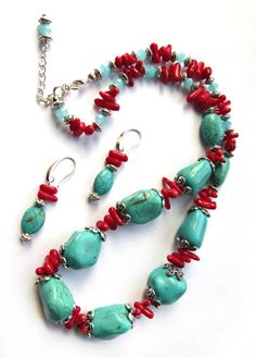 Hey, I found this really awesome Etsy listing at https://www.etsy.com/listing/218317737/handmade-blue-turquoise-necklace