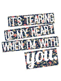 (NSYNC) but when we are apart I feel it tooo and no matter what I do I feel the pain with or without you