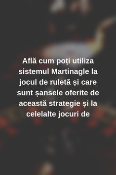 Află cum poți utiliza sistemul Martinagle la jocul de ruletă și care sunt șansele oferite de această strategie și la celelalte jocuri de #Romania #casino #jocuri #jocuricalaaparate Noroc, News