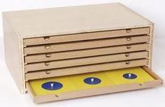 Montessori, Geometrische Kommode Montessori Material