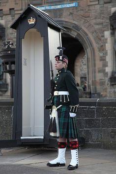 Edinburgh Castle guard, Scotland