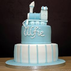 Can't wait to make this train topper for the baby shower cake
