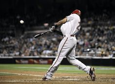 SAN DIEGO, CA - APRIL 10: Chris Young #24 of the Arizona Diamondbacks hits a two-run home run during the 11th inning of a baseball game against the San Diego Padres at Petco Park on April 10, 2012 in San Diego, California. (Photo by Denis Poroy/Getty Images)