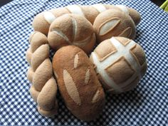 Comida fieltro: Pan Set por Pantalow en Etsy