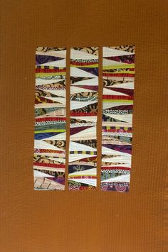 #2 Recycled triangle blocks from another quilt.