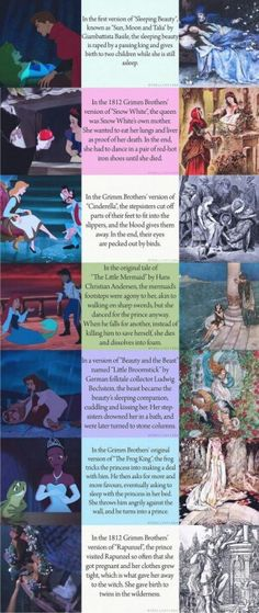 True endings which Disney's version of fairytales left out.