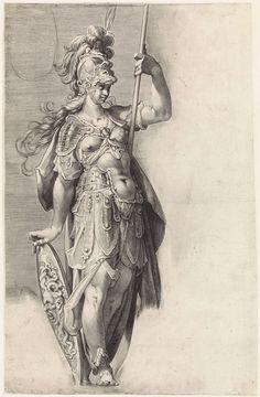 Minerva, attributed to Jan Harmensz. Muller, 1598 - 1602