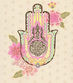 Beautiful hamsa ~ A universal sign of good luck and to ward of evil. Photo Main, Hand Of Fatima, Hamsa Hand, Hare Krishna, Good Luck, Tattoo Inspiration, Painting Inspiration, Artsy Fartsy, Spirituality