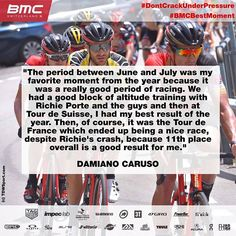 source instagram bmcproteam  @damiacar takes us back to the summer as he recalls #tourdesuisse and #TDF2017 for his #BMCBestMoment 👆. #Ride_BMC  bmcproteam  2017/10/31 20:05:16
