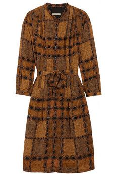 Burberry Brit Printed cotton and silk-blend dress | NET-A-PORTER