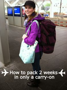 Lolz that's the Tom Bihn backpack I've been using - How to pack for 2 weeks in Europe in a carry-on - LaForce Be With You Glasgow, Edinburgh, Oh The Places You'll Go, Places To Travel, Travel Destinations, Travel Stuff, Travel List, Travel Packing, Packing Tips