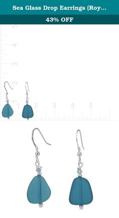 Sea Glass Drop Earrings (Royal Blue). These unique sea glass earrings are handmade with Aloha. Inspired by the beach, this tropical earring will match well with a variety of ensembles including summer dresses, wrap arounds, sarongs, etc. Lightweight and comfortable to wear.