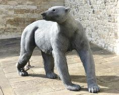 How to Recycle: Chicken Wire Sculptures Polar Bear by Kendra Haste