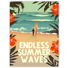 Diego Patino Vintage-Inspired Surf Prints