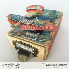 Pop Up Gift Card Box, World's Fair, by Danielle Copley, product by Graphic 45