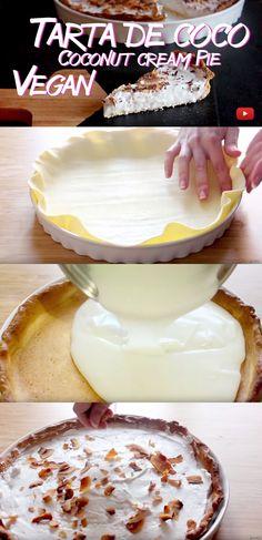 Coconut cream pie - Vegan - Tarta de coco - Vegana - Post + Video Reinas y Repollos