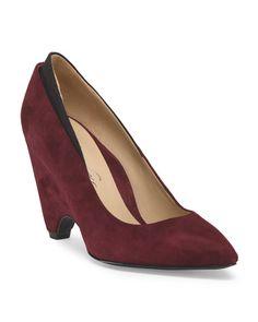 17ffb84ae Leather Wedged Heel Pump - Heels - T.J.Maxx