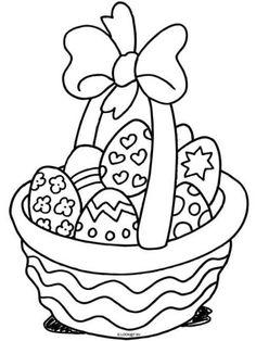 Easter coloring pages ~ Mrs Snowy — Coloring. Easter Coloring Sheets, Easter Colouring, Coloring Books, Easter Activities, Easter Crafts For Kids, Diy Ostern, Easter Printables, Easter Baskets, Egg Basket