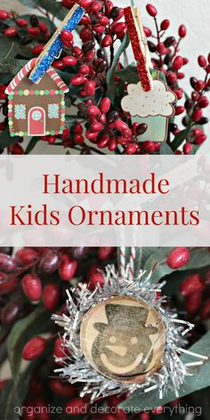 Handmade Kids Ornaments - Organize and Decorate Everything