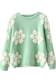 floral sweater| $24.93  kawaii floral pastel pastel grunge fachin sweater top under30 bh bella