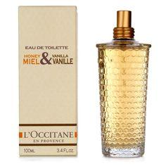 l'occitane honey & vanilla perfume. good enough to eat.