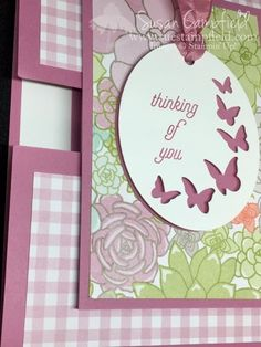 Succulent Timeless Tags Easter Butterflies Stampin Up - 6