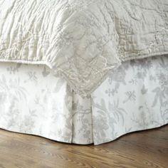 Jardin Toile Bedskirt - Gray | Ballard Designs
