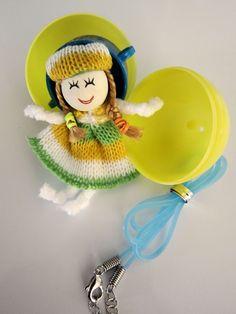 A handmade doll necklace, message holder, bottle decoration. #Easter, #Non-candy, #EasterEggFiller #EasterEgg #CuteGifts