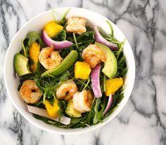 Shrimp, Mango, and Avocado Arugula Salad
