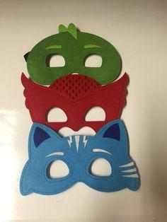 Máscaras PJ  6 máscara set  PJ máscaras disfraz  por CapedMommy