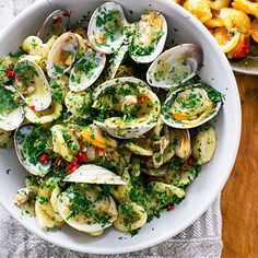 Orecchiette with Clams, Chiles, and Parsley {via sunset magazine}