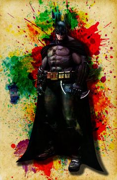 Batman Watercolor Print Fine Art Print Wall by DapperDragonArts