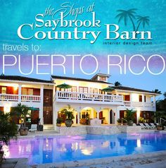 Are you getting tired of this cold weather? Maybe this project will help warm you up...Saybrook Country Barn recently embarked on an AMAZING interior design project in Rincon, Puerto Rico! We have a full write up complete with photos and video on our website...take a look by clicking the link: http://www.saybrookcountrybarn.com/post/services/saybrook-country-barn-goes-to-puerto-rico/