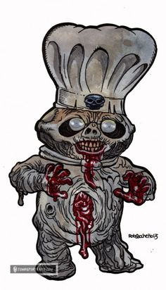 Zombie Pillsbury dough boy // HOLY SHIT!! I knew they should've cremated that guy!!