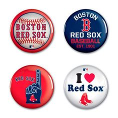 Boston Red Sox WinCraft 4-Pack Button Set