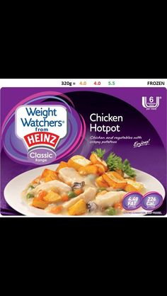 On sale in Asda ANY 3 FOR Get the best offers on Weight Watchers from Heinz Chicken Hotpot diet-foods Weight Watchers Ready Meals, Weight Watchers Chicken, Chicken Hotpot, Diet Recipes, Snack Recipes, Low Fat Snacks, Slimming World Syns, Low Fat Diets, Fresh Fruits And Vegetables
