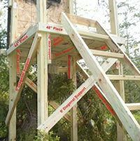 Assembling Your Homemade Deer Hunting Box Stand Plans - Building the Sides Bow Hunting Deer, Quail Hunting, Deer Camp, Deer Hunting Blinds, Hunting Cabin, Turkey Hunting, Hunting Stuff, Pheasant Hunting, Waterfowl Hunting