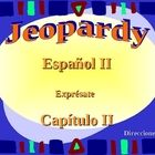 A fun Jeopardy review game that goes along with my study guide and Chapter Two test.  This material is for Spanish II, Expresate (Level Two) Chapter Two.  This review does not include the preterite tense. High School Spanish, Spanish Teacher, Spanish Class, Grammar Review, Review Games, Classroom, Study, How To Plan, Education