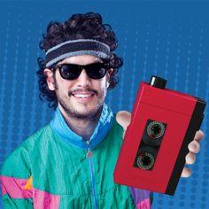 Cantil Drinkmen em formato de walkman de fita cassete