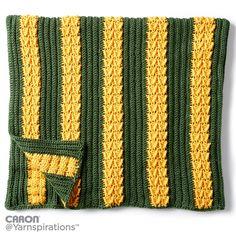 School Colors Crochet Afghan