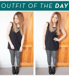 Love LLYMLRS's stripy leggings!