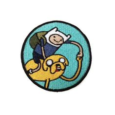 Iron on or Velcro backed Adventure Time Finn by ThatsWhatINeeded, $6.00
