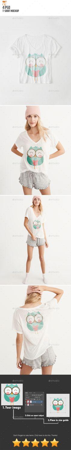 TShirt Mockup v4 — Photoshop PSD #urban #template • Available here → https://graphicriver.net/item/tshirt-mockup-v4/20461699?ref=pxcr