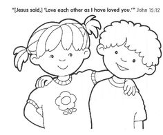 Love Each Other Coloring Page Sunday School Coloring Pages