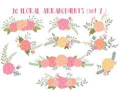 Floral clip art wedding clipart ranunculus flowers 3